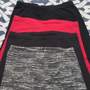 4 pairs of girls legging size 10/12